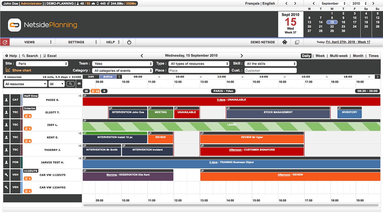 Exceptionnel Netside Planning - Logiciel de gestion de planning d'entreprise  WB56
