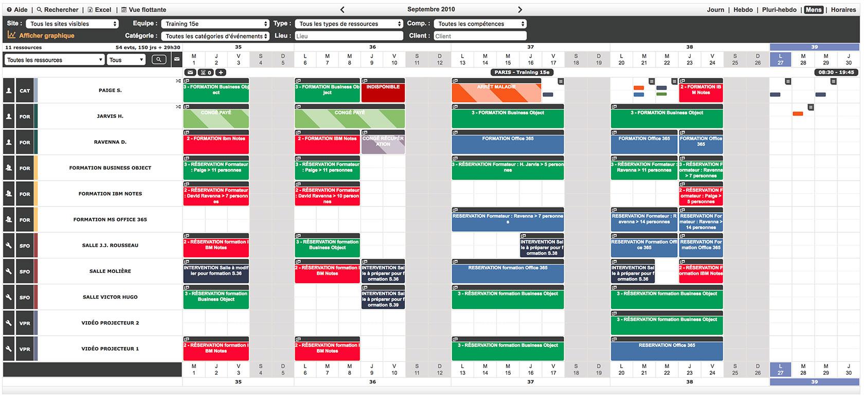 notre logiciel de gestion de planning de formation
